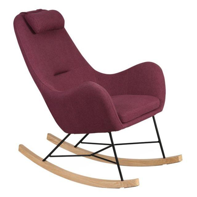Tousmesmeubles Rocking Chair Prune - Means
