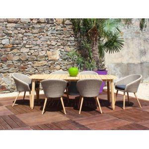 Résidence - Salon de jardin Lombok / Danang - Dimensions - Table 2 ...