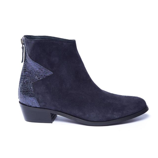 nouveau style 56bf3 ba64a Reqins - Boots Bombay Reqin'S Bleu Marine - pas cher Achat ...