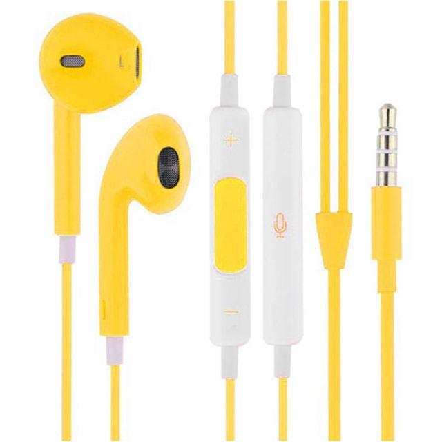 Hobby Tech - Ecouteurs avec télécommande et micro pour iPhone iPad iPod - Jaune
