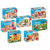 Playmobil   9266_9272 Maison Moderne   7 Boîtes 9266+9267+9268+9269+