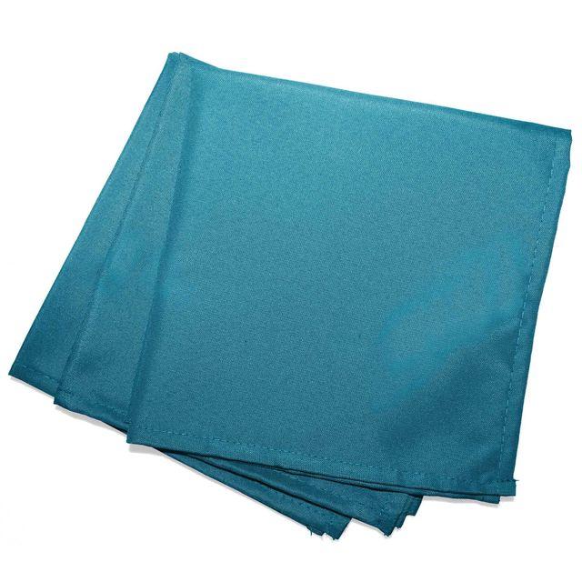Douceur D'INTERIEUR Cdaffaires 3 serviettes de table 40 x 40 cm polyester uni essentiel Bleu