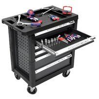 Kwb - Servante d'atelier 7 tiroirs - équipée 129 outils