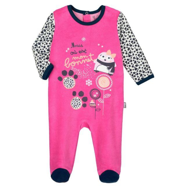 da30e4175f50e Petit Beguin - Pyjama bébé velours Snowbear - Taille - 12 mois - pas ...