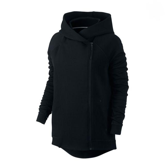 53f1770f14ee Nike - Veste Tech Fleece Cape - 684928-010 - pas cher Achat   Vente Gilet  femme - RueDuCommerce