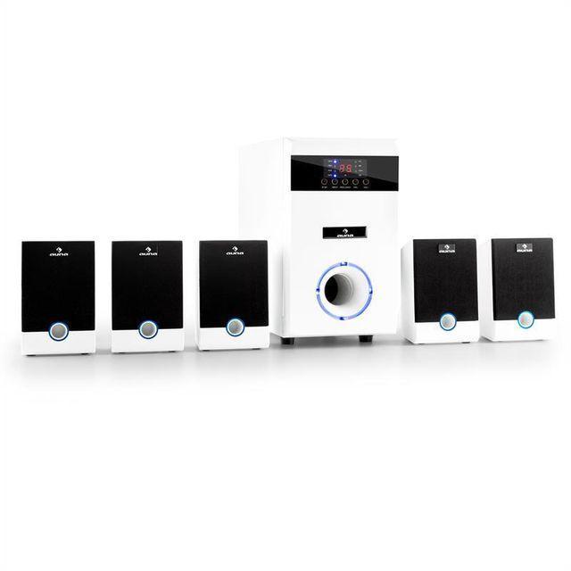 AUNA 5.1-JW set multimedia surround home cinema 95W RMS AUX -blanc