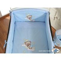 Autre - Lit et Parure de lit bébé bonne nuit bleu ciel de lit mousseline 120 60
