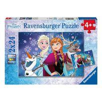 Ravensburg - Puzzle 2x24p Aurores boreales La Reine des Neiges