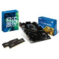 RUE DU COMMERCE - Kit EVO Skylake - INTEL Core i5 6600K - MSI Z170A PC MATE - 2x 4 Go DDR4 KINGSTON HyperX Fury 2133 MHz CAS 14