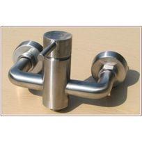 De Lanwa - Inox Robinet mitigeur douche en acier inoxydable haut de gamme satinée neuf b15