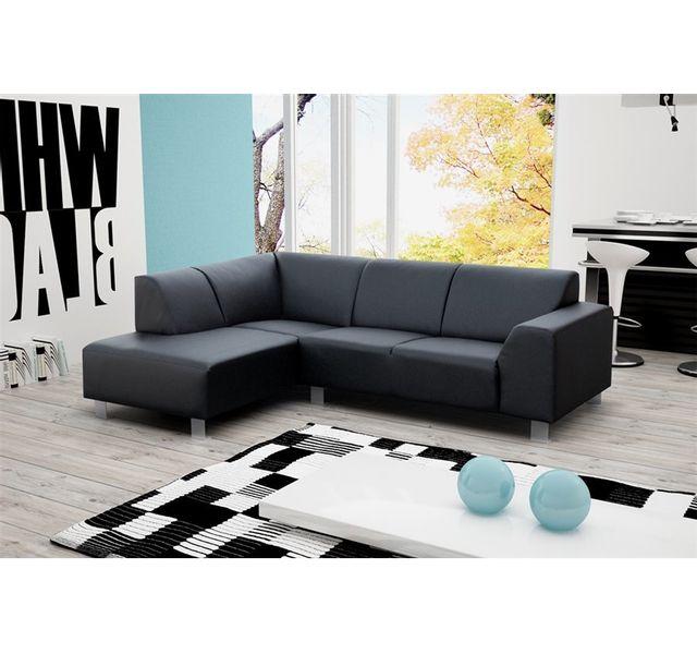 CHLOE DESIGN Canapé d'angle destiny - Angle gauche - gris