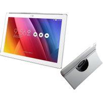 ZenPad Z300M-6B032A - 10,1'' IPS - 16 Go - Wifi - Blanc + Etui rotatif Blanc pour ZenPad 10