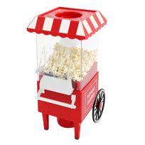 Kas Design - Appareil À Pop-Corn - Chariot de style fête foraine - Fonction à air chaud, sans matière grasse