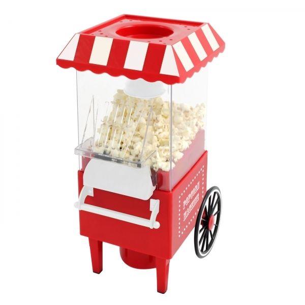 Kas Design Appareil À Pop-Corn - Chariot de style fête foraine - Fonction à air chaud, sans matière grasse