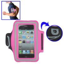 Techexpert - Brassard sport tour de bras pour iPhone 4 & 4S / iPhone 4 CDMA, / iPhone 3GS / iPod Touch 4 rose