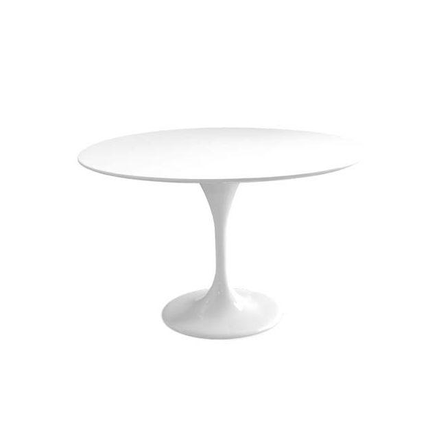 Ego Design Table repas tulip fibre de verre blanc 120