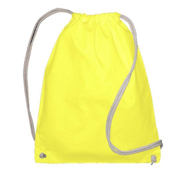 Jassz Bags Sac de gym avec cordon de serrage Lot de 2, Taille unique, Jaune Utbc4328