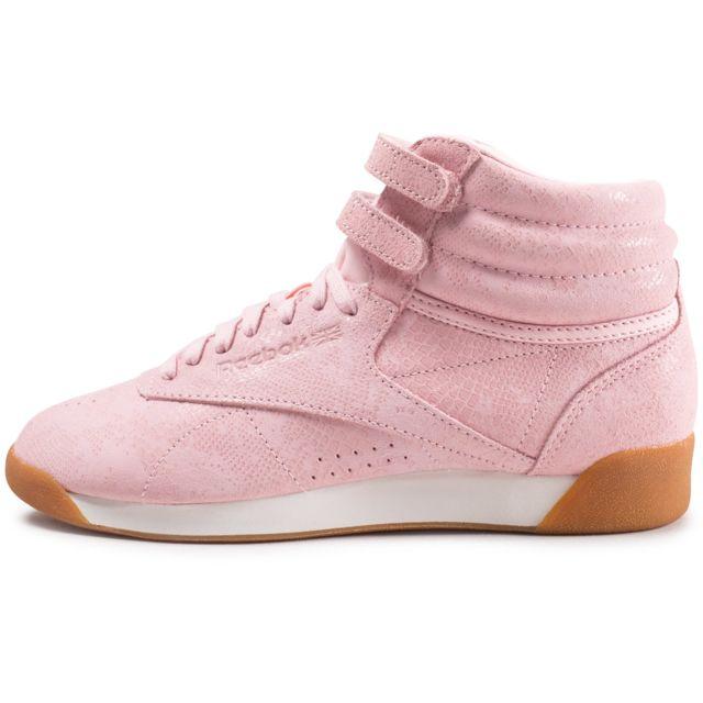 Reebok Cher Pas Vente Freestyle Achat Femme Baskets Hi Rose R534AqjL
