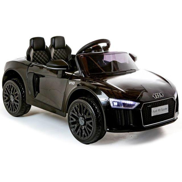Beneo Voiture électrique Audi R8 Small, noire, sous licence d'orig