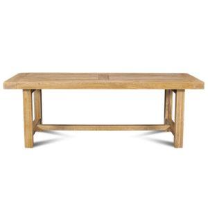 hellin table de ferme la bresse bois ch ne massif 220cm x 76cm x 90cm extensible pas. Black Bedroom Furniture Sets. Home Design Ideas