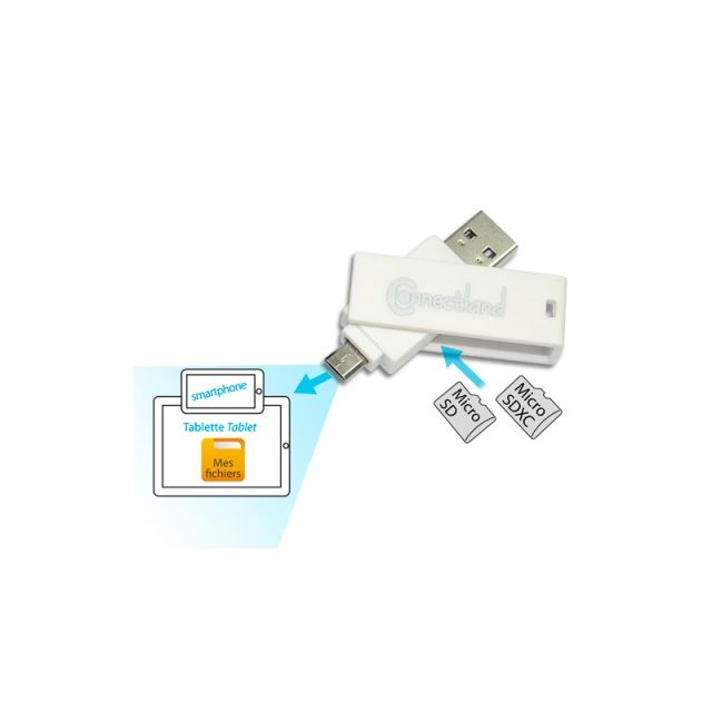 Cabling - Lecteur de cartes mémoires compatible smartphone