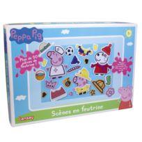 Lansay - Kit créatif Peppa Pig : Scènes en feutrine