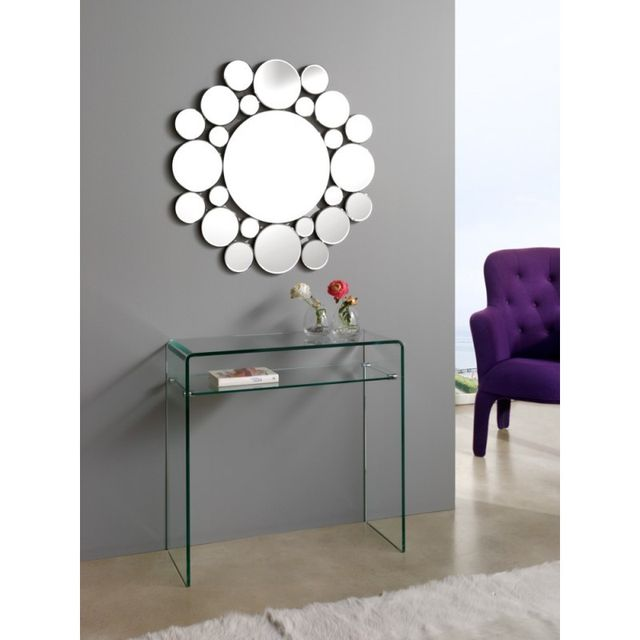 Ma Maison Mes Tendances Miroir rond en verre Sasha - L 80 x l 80