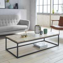 Table Basse Bois Metal Catalogue 2019 Rueducommerce Carrefour