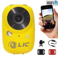 Liquid Image - Ego-727Y - Caméra wifi embarquée - Vidéo Full Hd 1080P - Jaune