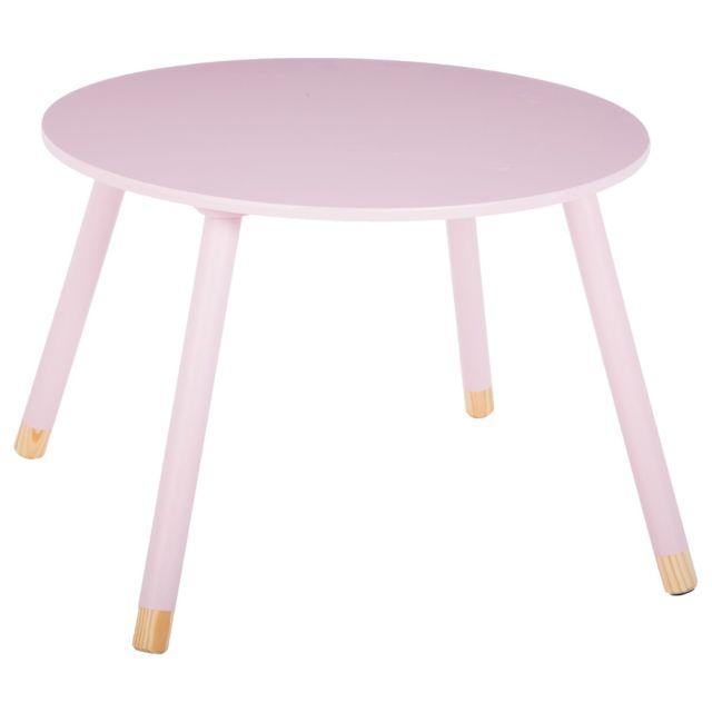 Atmosphera, Createur D'INTERIE Table enfant Douceur - Diam. 60 cm - Rose