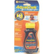 Aquachek - 50 Bandelettes d'analyses Orange 3 en 1 Oxygène actif, Alcalinité, pH