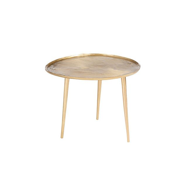 Table gigogne 55x60x45cm en métal or