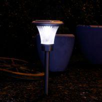 Star Trading - Solar - Piquet d'extérieur Solaire Led Chrome H48cm - Luminaire d'extérieur Best Season designé par
