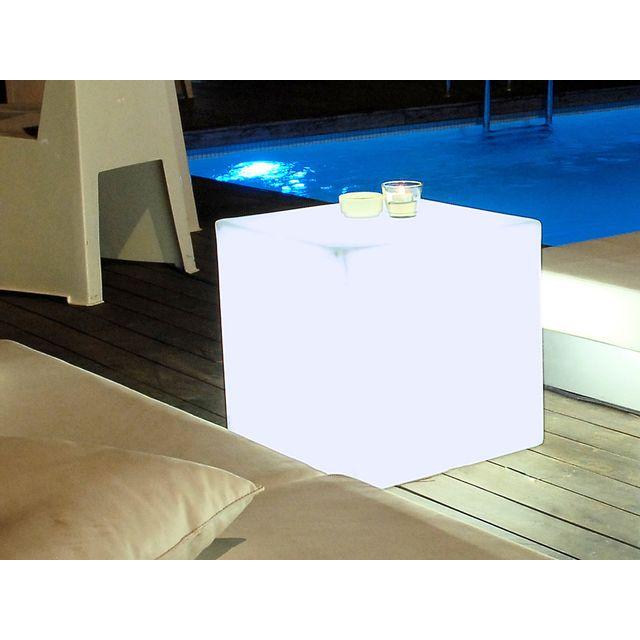 New Garden Cube Lumineux Led Multicolore Sans Fil En Polyã