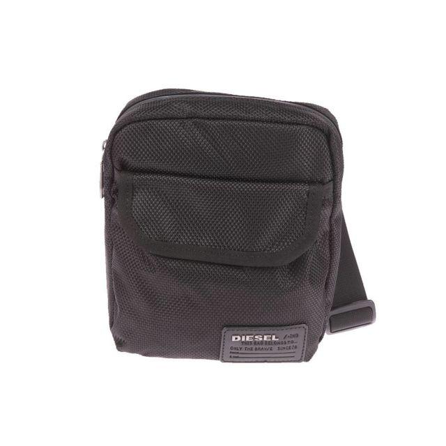 c9bc3e454a Diesel - Sacoche en tissu noir quadrillé - pas cher Achat / Vente Besaces  et bandoulières - RueDuCommerce
