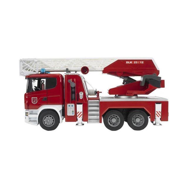 Bruder 03590 Scania R-serie Camion de pompiers fonctionnel avec pompe à eau