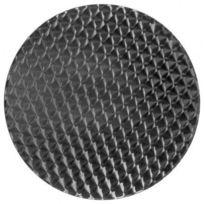 Techneb - Plateau de table rond Anis bois et acier inoxydable 70cmX70cmX2cm, acier