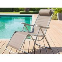 Chaise relax jardin - catalogue 2019 - [RueDuCommerce - Carrefour]