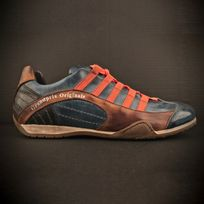 e882a2e5ba5a8 Gulf - Chaussures Grand Prix Original Monza indigo en cuir pour homme taille  45