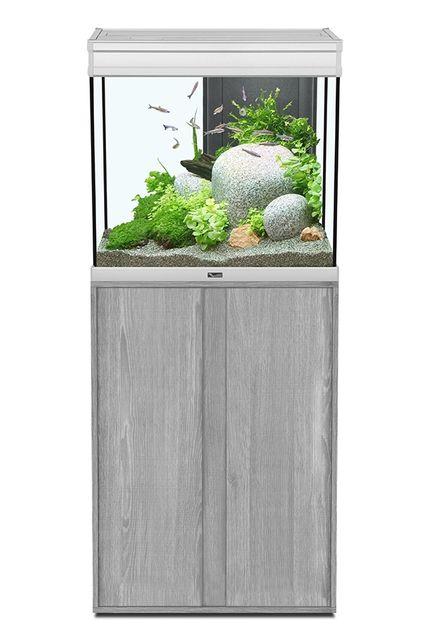 aquatlantis aquarium meuble expert led 136l 60x40x55 gris vein pas cher achat vente. Black Bedroom Furniture Sets. Home Design Ideas