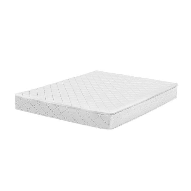 BELIANI Matelas à ressorts ensachés équilibré / ferme 140x200 cm - DUO - blanc