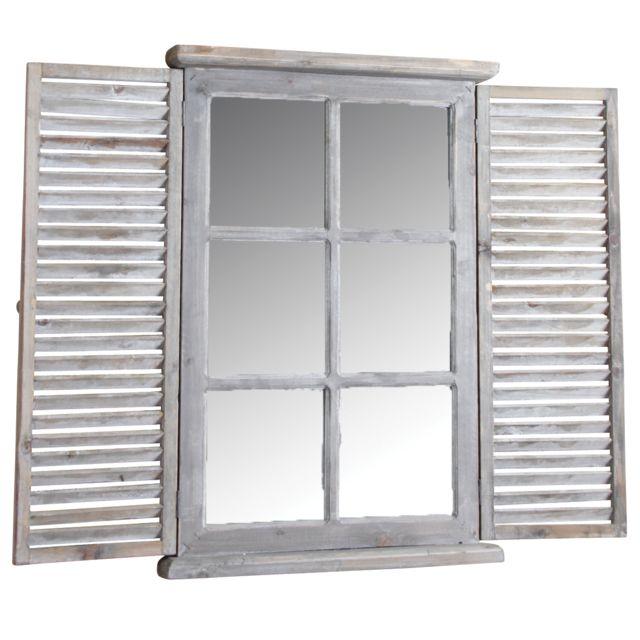 AUBRY GASPARD Miroir fenêtre en bois