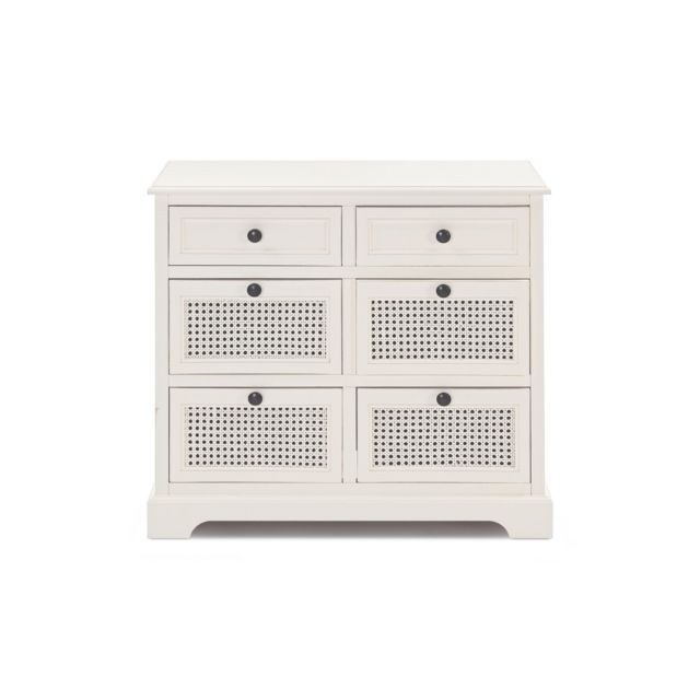 HELLIN Commode 6 tiroirs - ANABEL