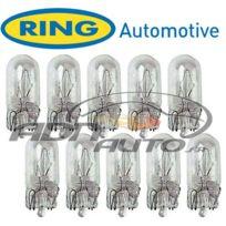 Ring - 10 Ampoules T10 - 24V - W5W - W2.1X9.5d - clignotant et tableau de bord