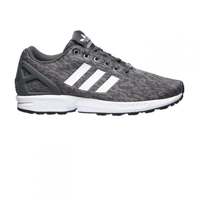 pretty nice 2ce53 1dbce Adidas originals - Chaussures Zx Flux Gris Noir - pas cher Achat   Vente Baskets  homme - RueDuCommerce