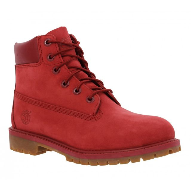 timberland rouge pas cher