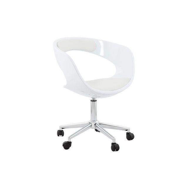 Fauteuil de bureau 57x63x80cm Felixin - blanc