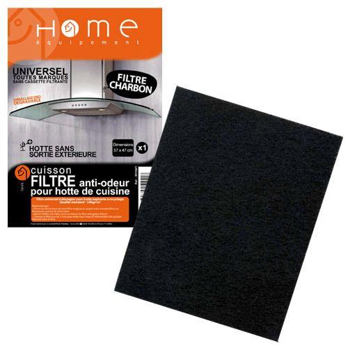 HOME EQUIPEMENT - Filtre charbon anti odeur à découper pour Hotte - 95104/1
