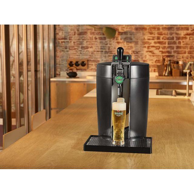 Krups Machine distributeur de bière tireuse de 5L 61W gris noir
