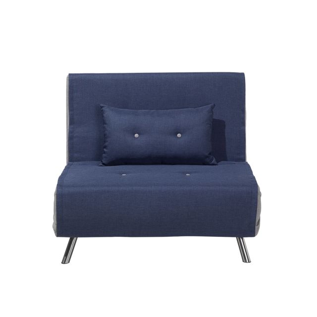 BELIANI Canapé-lit en tissu bleu FARRIS